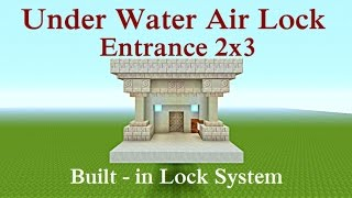 Minecraft Tutorial : Underwater Air Lock Door 2x3 Tall