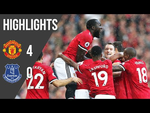 Manchester United 4-0 Everton | Premier League Highlights (17/18) | Manchester United