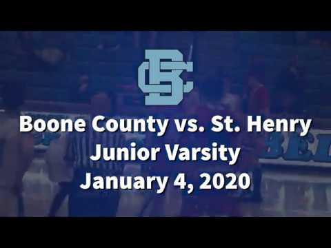 Boone County High School JV vs. St. Henry 1/4/2020