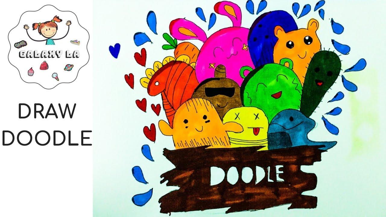 DRAW DOODLE WITH ME| Phiên bản mình tự vẽ| Galaxy La