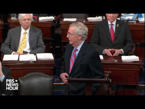 Sen. Mitch McConnell speaks after