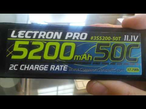 LECTRON PRO (2) 3S 5200 MAH 50C LIPO BATTERIES REVIEW