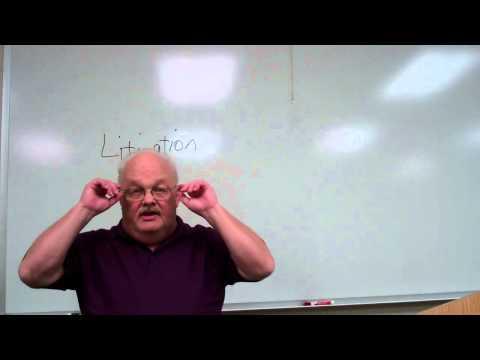 Dawalt lectures Litigation for Paralegals Introduction
