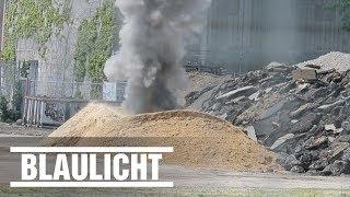Bombe auf Baustelle gesprengt - Boom in Hamburg