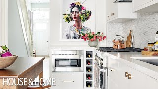 Kitchen Makeover: A White Kitchen With Striking Art