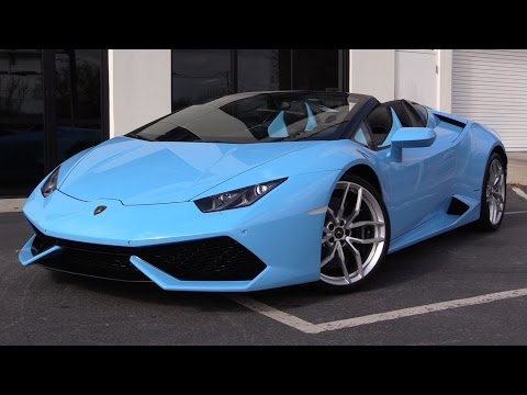 2016 Lamborghini Huracán Spyder LP610-4 Start Up, Exhaust, and In Depth Review