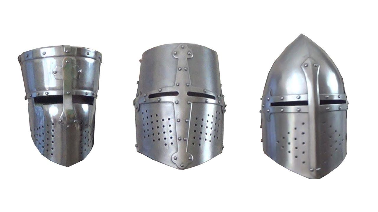 Crusader helmets
