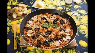 Pasta de Espagueti a la Marinara. Recetas fáciles con pasta