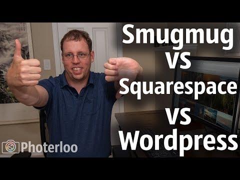 SmugMug vs Squarespace vs Wordpress For Photography Website