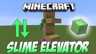 Minecraft: Easiest SLIMEBLOCK ELEVATOR Tutorial