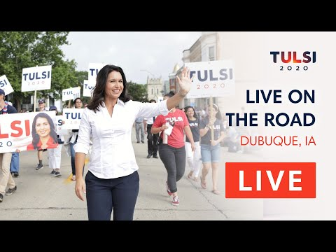 Tulsi Gabbard LIVE on the road - Labor Day Parade - Dubuque, IA