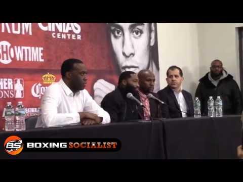 Adrien Broner Press Conference crawford vs postol