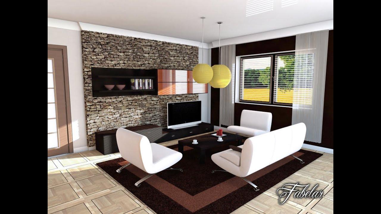 3D Model: Living room 04 - CGriver.com - YouTube