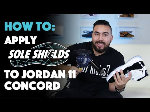 How to apply Sole Shields to Air Jordan 11 Concord with Jonny Bubbles!!