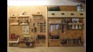 22 Værktøjsholdere!! Den ultimative værktøjsvæg.