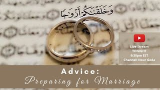 Advice: Preparing for Marriage