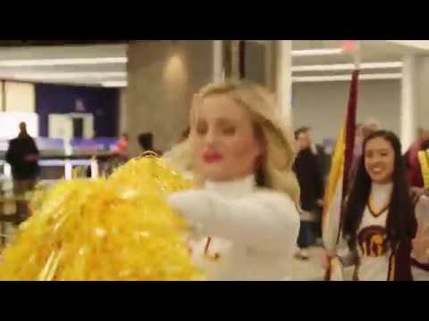 USC Trojan Marching Band surprise performance at LAX