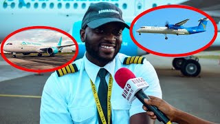 A to Z Rubani Afunguka Yaliyomkuta ndani ya Air Tanzania Angani na Airport
