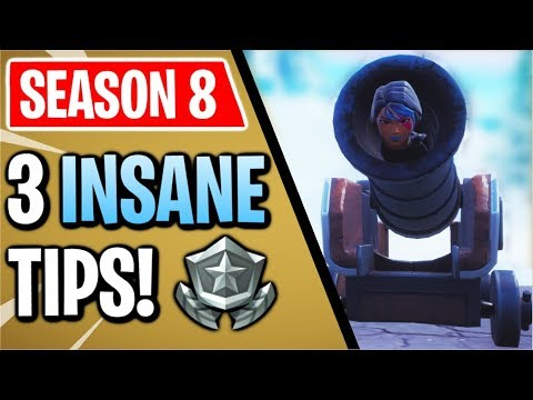 Fortnite: 3 Season 8 Tips You NEED To Know! | Fly Across The Map In A Cannon!