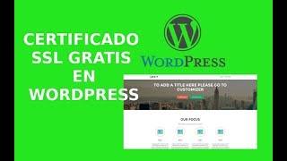 Cómo instalar un certificado SSL gratis en Wordpress?