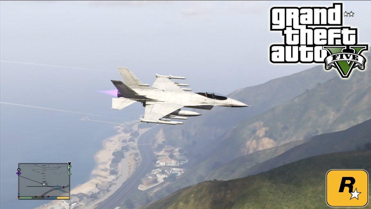 GTA5 Fighter Jet (P-996 Lazer) Tutorial :: Grand Theft Auto V [PS3 / Xbox  360] ᴴᴰ