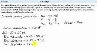 Egzamin ósmoklasisty. Zadanie 30. Podział rabatu   MatFiz24.pl