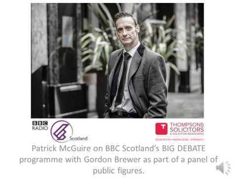 Patrick McGuire panel member on Gordon Brewer's Big Debate