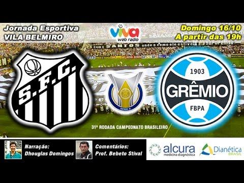 Santos 1x1 Grêmio 16/10/16 - Brasileirão