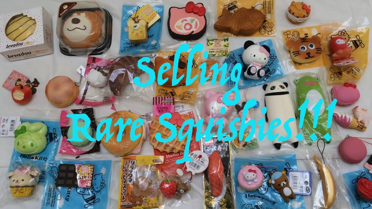 Selling Rare Squishy Collection! + Cheap Shop Leftovers - YouTube