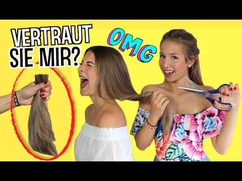 BFF weiß nicht WIE ich ihre HAARE FÄRBE  😈  Extreme Haarveränderung