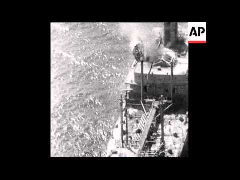 SYND 30 4 69 BRITISH OIL TANKER EXPLODES IN THE CARIBBEAN