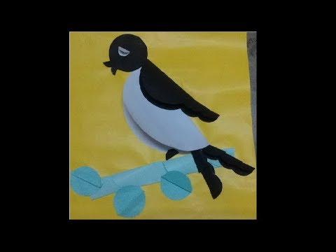 Paper Bird | Paper Art | Aq Media | Art and Craft | DIY Paper Craft | Art for Kids