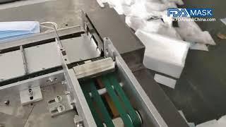 자동 3 플라이 일회용 의료 마스크 제조 기계의 기계 …