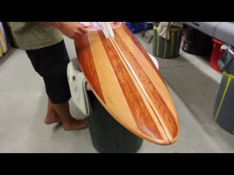 How to Turn Any Surfboard Into Wood. Custom Painted Faux Wood Grain With Sean Cahill