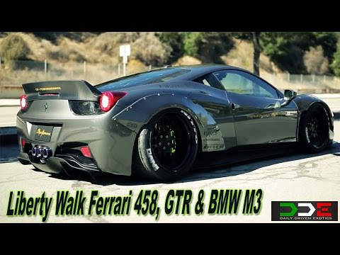 ferrari italia widebody. liberty walk lb ferrari 458 \u0026 gtr widebody insane sound fly bys! italia