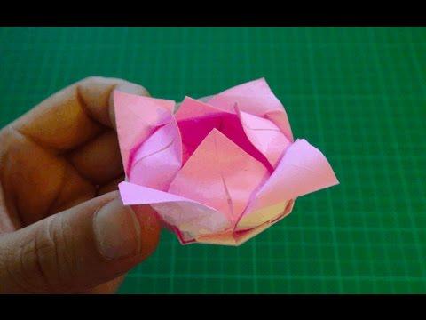 Origami Flowerlotus Youtube