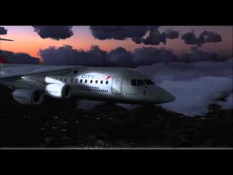 [FSX] Avro RJ85   Difficult Snowy Approach into Norwich Intl