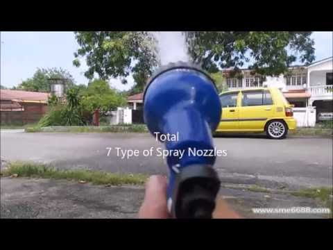 Magic Xhose Water Hose and 7 Type Of Spray Nozzles