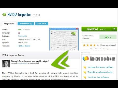 Download nvidia inspector | Peatix