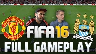 FIFA 16 MANCHESTER UNITED VS MANCHESTER CITY FULL GAMEPLAY [HD+ 60FPS PS4 / XBOX ONE]