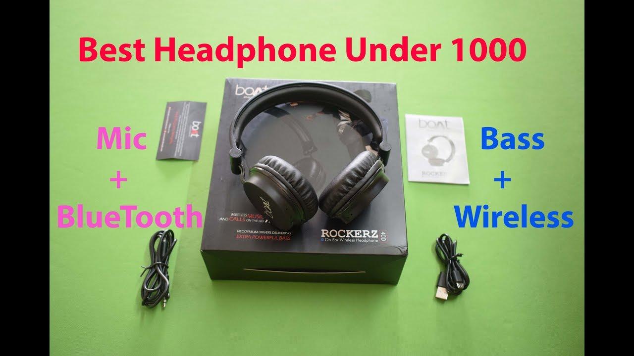 2019 Best Bluetooth Headphone With Mic Under 1000 Boat Rockerz 400 Powerfull Bass Youtube