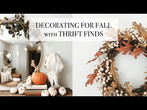 Decorating For Fall With Thrifted Finds [ugly to cute fall decor makeover]