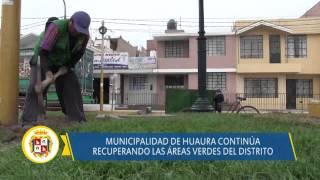90 03 DISTRITO DE HUAURA Trabajos en áreas verdes del distrito