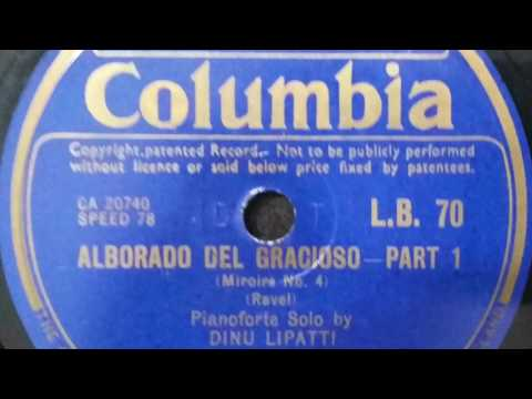 Dinu Lipatti plays Ravel's Alborada del Gracioso