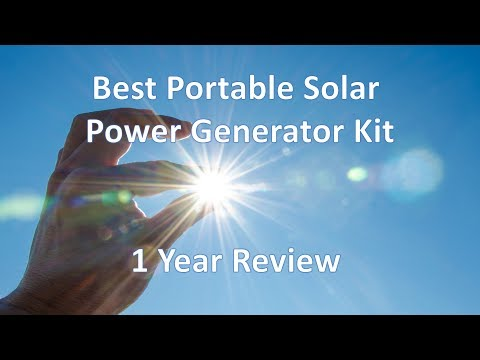 Best Portable Solar Power Generator Kit 1 Year Review Inergy Kodiak