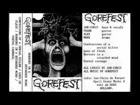 GOREFEST  Horrors in a Retarded Mind Full Demo 90