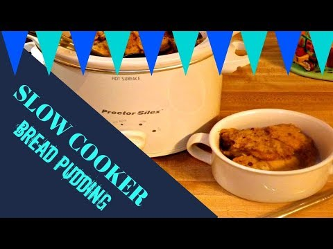 🍞SLOW COOKER BREAD PUDDING!🍞