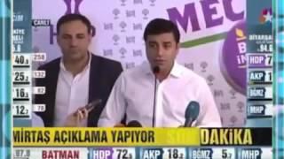 Selahattin Demirtaş Balkon Konuşması Seçim Açıklaması 7 Haziran 2015