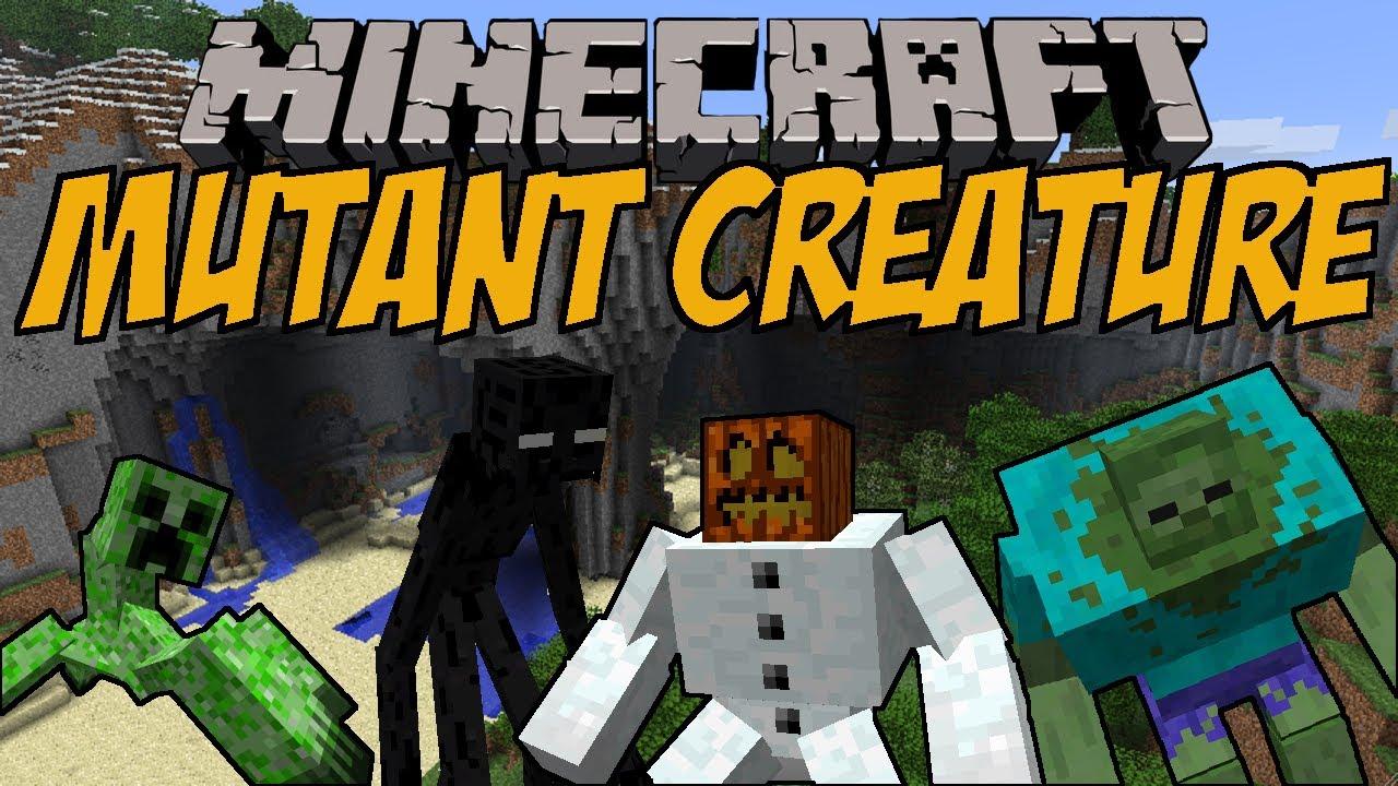 MUTIERTE MINECRAFT MOBS Mutant Creature Mod Minecraft Mod