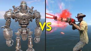 Fallout 4 - LIBERTY PRIME vs 250 PRESTONS - Battles #74